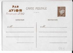 1941 - CARTE ENTIER TYPE PETAIN Avec TAXE PERCUE Par AVION 2F80 EMISE AU MAROC - Postal Stamped Stationery