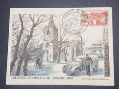 FRANCE/ ALGÉRIE - Carte Maximum De La Journée Du Timbre De Oran En 1958 - L 8655 - Algérie (1924-1962)