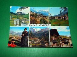 Cartolina Valle D' Aosta - Vedute Diverse 1964 - Italy