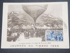 FRANCE/ ALGÉRIE - Carte Maximum De La Journée Du Timbre De Colomb Béchar En 1955 - L 8656 - Algérie (1924-1962)