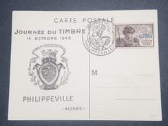 FRANCE/ ALGÉRIE - Carte De La Journée Du Timbre De Philippeville En 1945 - L 8659 - Algérie (1924-1962)