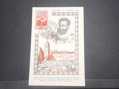 FRANCE/ ALGÉRIE - Carte Maximum De La Journée Du Timbre De Sidi Bel Abbes En 1946 - L 8661 - Algérie (1924-1962)