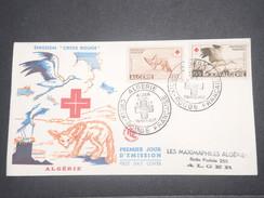 FRANCE/ ALGÉRIE - Enveloppe FDC Croix Rouge En 1957 - L 8664 - Algérie (1924-1962)