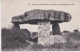 DOLMEN & MENHIRS - ENVIRONS DE COGNAC -DOLMEN DE SAINT FORT SUR LE NÉ (1 Pli) - Dolmen & Menhirs