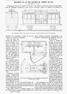 ECLAIRAGE AU GAZ DES VOITURES DE  CHEMINS DE FER  Systéme W. SUGG  1881 - Chemin De Fer