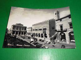 Cartolina Rimini - Piazza Cavour 1959 - Rimini