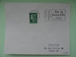 REIMS FETE DE JEANNE D'ARC MARNE - Postmark Collection (Covers)