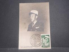 FRANCE/ ALGÉRIE - Carte Maximum Légionnaire En 1954 - L 8667 - Algérie (1924-1962)