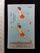 "Ancien Chromo, Pub Pour ""Bee's Polish"" La Culture Physique En 30 Exercices N°18 - Sin Clasificación"