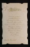 MENU IN PERKAMENT GAND MARS 1898 - Menus