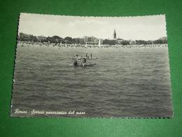 Cartolina Rimini - Scorcio Panoramico Dal Mare 1955 - Rimini