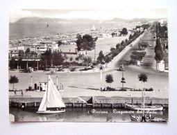 Cartolina Riccione - Lungomare Dal Porto 1957 - Rimini