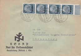 Enveloppe De La NSDAP D'ALTKIRCH  Oberelsass 19/2/41 - Alsace-Lorraine