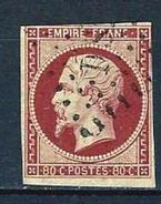 """YT 17A """" Napoléon III 80c. Carmin """" Losange Des Bireaux De Paris DS1 - 1853-1860 Napoleon III"""