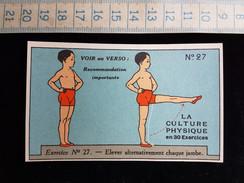 "Ancien Chromo, Pub Pour ""Bee's Polish"" La Culture Physique En 30 Exercices N°27 - Sin Clasificación"