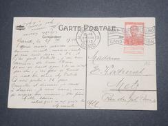 BELGIQUE - Oblitération De Bruxelles ( Gand Exposition ) Sur Carte Postale En 1913 - L 8681 - Belgium