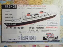 Simmons France De La Cie Générale Transatlantique 4 - Buvards, Protège-cahiers Illustrés