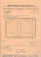 1881 - Cie Universelle DU CANAL MARITIME DE SUEZ - Remboursement De Délégations De Coupons D'Actions - Historische Documenten