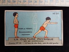 "Ancien Chromo, Pub Pour ""Bee's Polish"" La Culture Physique En 30 Exercices N°30 - Sin Clasificación"