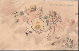 ANGELES ANGELS COLECCION ALFREDO CARMEN CHINESE INK TINTA CHINA ORIGINAL YEAR 1904 SIGNEE RARISIME FINE ARTS TOP CARTE - Engelen