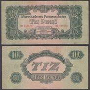 Hungary 10 Pengo 1944 (F-VF) Condition Banknote P-M5 - Hongrie