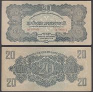 Hungary 20 Pengo 1944 (VF-XF) Condition Banknote P-M6 - Hongrie