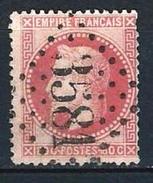 """YT 32 """" Napoléon III Lauré 80c. Rose """" GC 3581 ST ETIENNE - 1863-1870 Napoleon III Gelauwerd"""