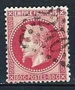 "YT 32 "" Napoléon III Lauré 80c. Rose "" GC 2240 MARSEILLE - 1863-1870 Napoleon III With Laurels"