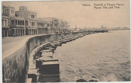 HABANA (CUBA) - AVENIDA Y PARQUE MACEO - Cuba