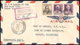 1942 CANAL ZONE REGISTERED MULTI STAMP + NAVAL CENSOR - Stamps