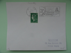 JONVILLE PLAGE AU SUD CAMPING MANCHE - Postmark Collection (Covers)