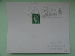JONVILLE PLAGE AU SUD CAMPING MANCHE - Marcophilie (Lettres)