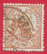 Espagne N°145 25c Brun-jaune 1874 O - 1873-74 Regency