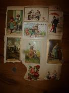 Années 1889-1920 :6 Images  Diverses ,dont Chromo Et Images (Au Caprice , La Belle Jardinière , Musée Du Louvre) - Vieux Papiers