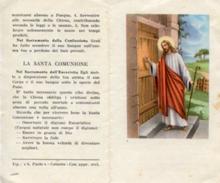 Santino Depliant Antico GESÙ BUSSA ALLA PORTA - N49 - Religione & Esoterismo