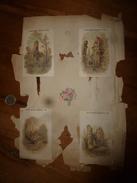 Années 1889-1920 :4 Images  AUX DEUX PASSAGES-NOUVAUTES-LYON (dont 1 écornée) - Vieux Papiers
