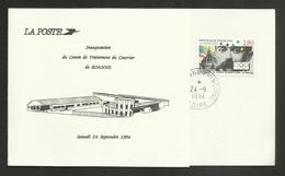 """42 - LOIRE / """" Inauguration Centre Traitement Du Courrier """" / ROANNE Septembre 1994 - Bolli Commemorativi"""