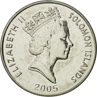 Îles Salomon, Elizabeth II, 20 Cents, 2005, FDC, Nickel Plated Steel, KM:28 - Solomon Islands