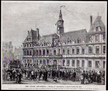 1872  --  51 MARNE  --  LES VILLES DELIVREES   REIMS LE 6 NOVEMBRE A QUATRE HEURE DU SOIR   3M.447 - Vieux Papiers