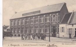 Hougaerde, L'école De L'Immaculée, Circulé, 1903 Of 1909 - Hoegaarden