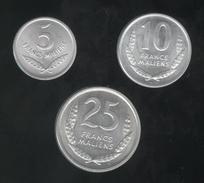 Lot 5 , 10 , 25 Francs Mali 1961 - SPL - Mali (1962-1984)