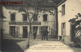 CHATEAUNEUF-LES-BAINS RESTAURANT DU BAC  63 - Francia