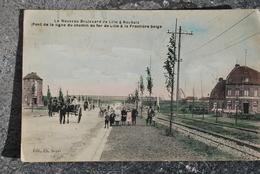 955/ Le Nouveau Bd De LILLE à Roubaix(Pont De La Ligne Du Chemin De Fer Lille Jusque Frontière Belge-Attelage (colorisée - Lille
