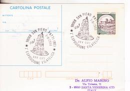 185-Storia Postale-Marcofilia-Tema:Filatelia-Annullo Speciale San Piero Patti-Messina-1^Esposizione Filatelica - 6. 1946-.. Repubblica