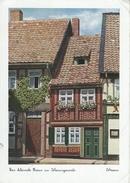 Das Kleinste Haus In Wernigerode.  Sent To Denmark 1938  Germany.  # 06278 - Ohne Zuordnung
