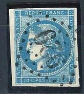 "FR YT 45C "" Cérès 20c. Bleu Clair "" GC 929 CONDAMINE-CHATELARD - 1870 Bordeaux Printing"