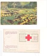 M4494 Croce Rossa Italiana ILLUSTRATA TOMMASO CASCELLA  Sovrastampata Prestito N 33 Avanzata 1916 Vojussa - Künstlerkarten