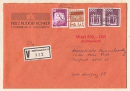 Deutsche Bundespost,Wertbrief (4500 Osnabrück 13), Mischfrankatur 1988. - [7] Federal Republic
