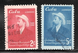 Cuba 1950 SC# 441-442 (1) - Used Stamps