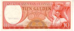 Surinam P.121 10 Gulden 1963 Unc - Suriname